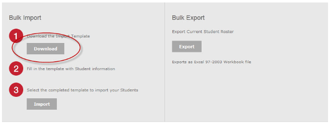 Bulk import. Download.