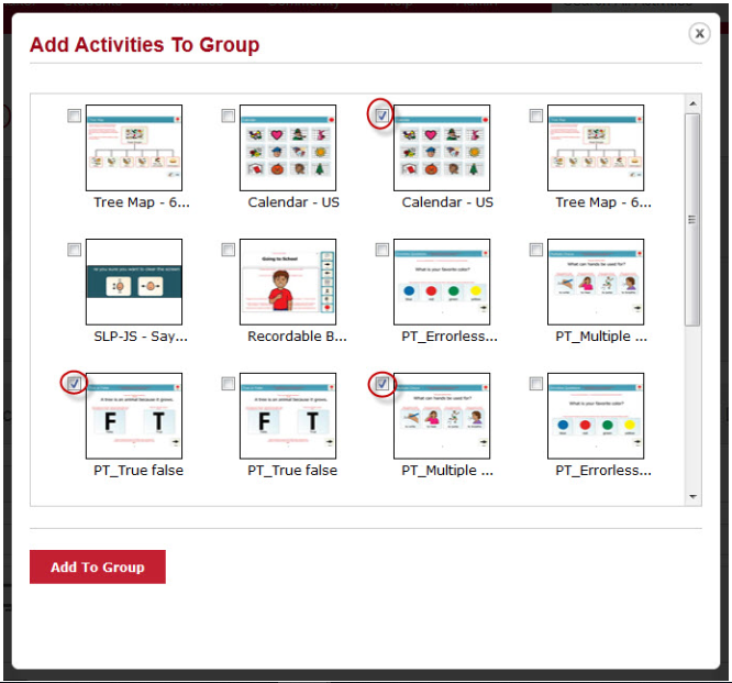 Add Activities to group