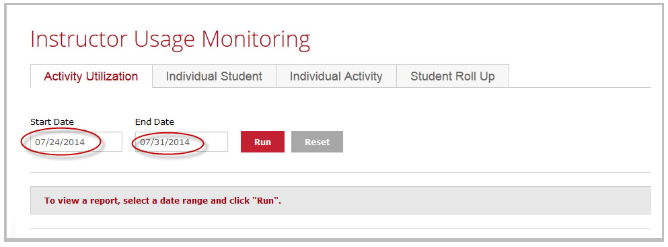 Instructor Usage Monitoring