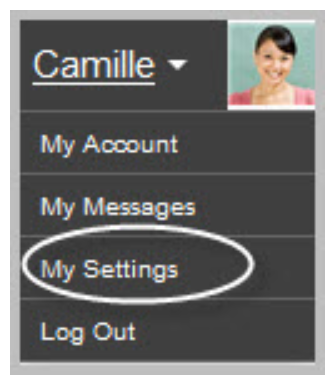 Profile, my settings