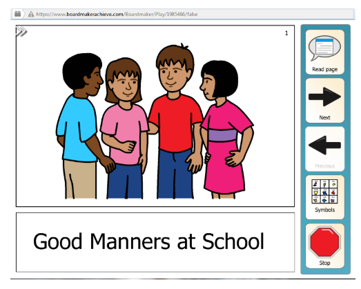 Activity: Good manners at school