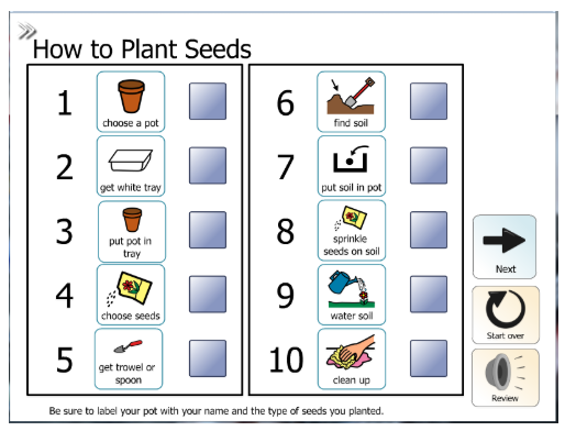 Activity: How to Plant Seeds