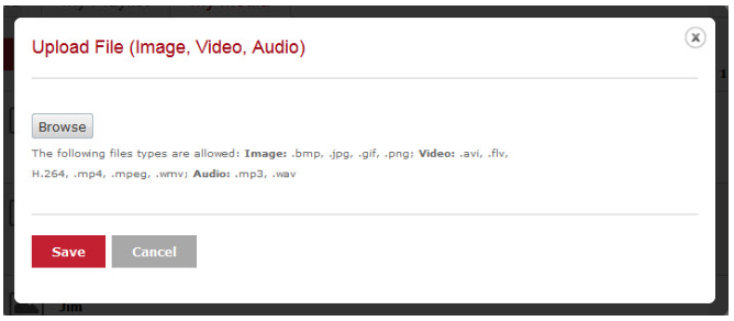 Upload File (image, Video, Audio)