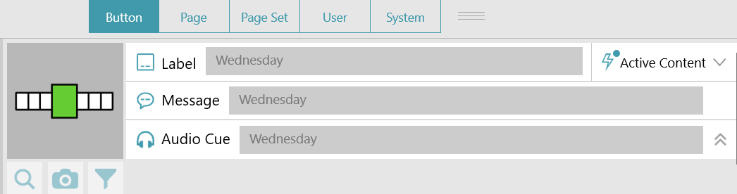 image with active content filled in with day of the week